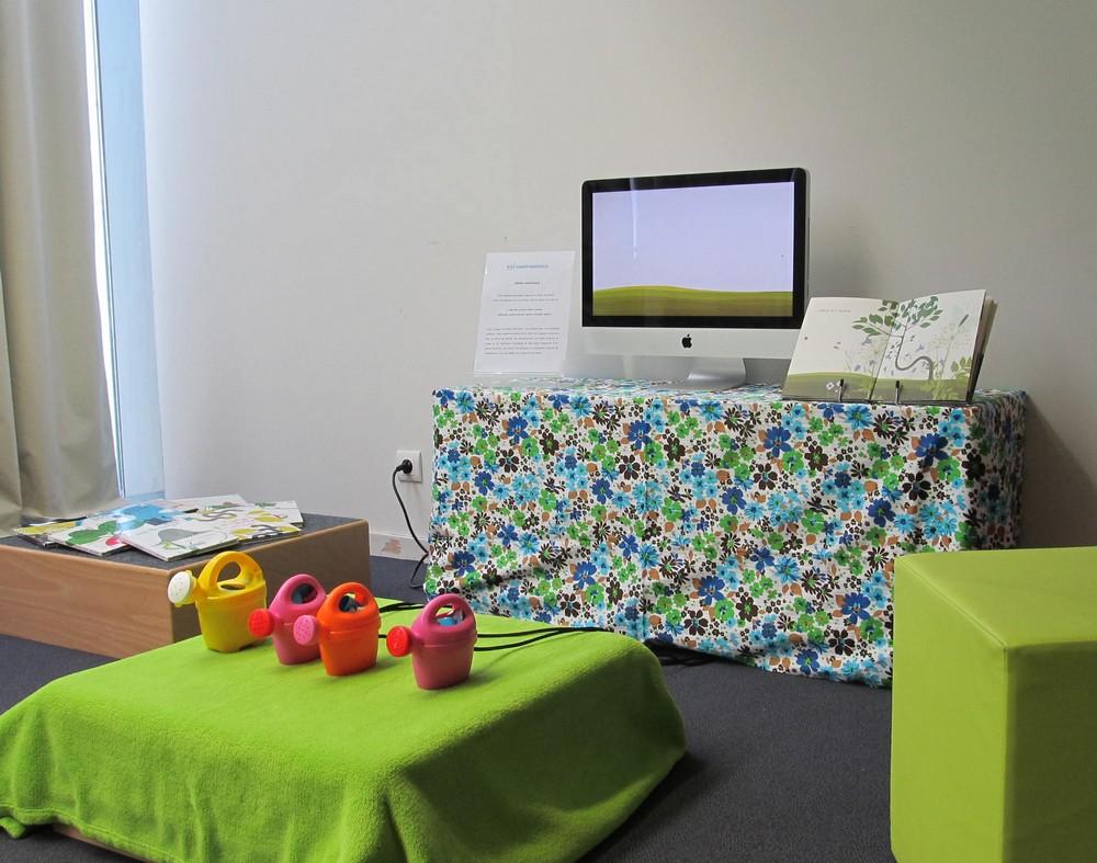 Dispositif interactif à partir d'une planche d'Anne Crausaz
